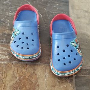 Boys Crocs size 13 Captain America